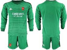 Mens 20-21 Soccer Arsenal Club ( Custom Made ) Green Goalkeeper Long Sleeve Suit Jersey