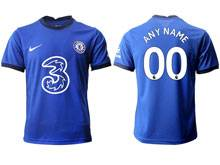 Mens 20-21 Soccer Chelsea Club ( Custom Made ) Blue Home Thailand Short Sleeve Jersey