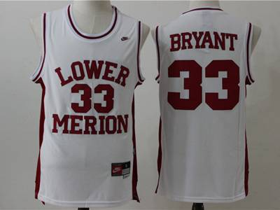 Mens Ncaa Nba Lower Merion #33 Bryant White Swingman Nike Jersey