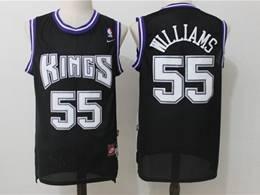Mens Nba Sacramento Kings #55 Jason Williams Black Mitchell&ness Mesh Jersey
