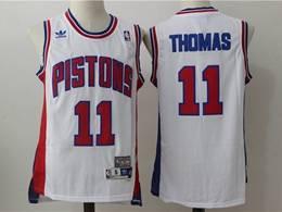 Mens Nba Detroit Pistons #11 Isiah Thomas White Mitchell&ness Hardwood Classics Swingman Adidas Jersey