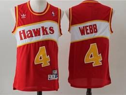 Mens Nba Atlanta Hawks #4 Spud Webb Red Mitchell&ness Hardwood Classics Swingman Jersey