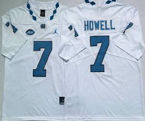 Mens Ncaa Nfl North Carolina Tar Heels #7 Sam Howell White College Vapor Untouchable Limited Jersey