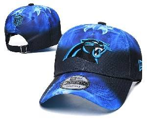 Mens Nfl Carolina Panthers Team Color Multicolour Gradient Snapback Adjustable Curved Hats