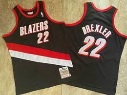 Mens Nba Portland Trail Blazers #22 Clyde Drexler Black 1991-92 Mitchell&ness Hardwood Classics Swingman Jersey
