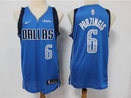 Mens Nba Dallas Mavericks #6 Kristaps Porzingis Light Blue Swingman Nike Jersey