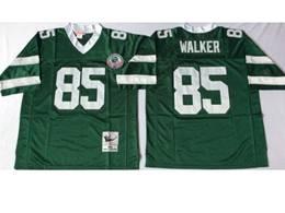 Mens Nfl New York Jets #85 Walker Green Mitchell&ness Throwback Jersey