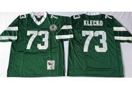 Mens Nfl New York Jets #73 Joe Klecko Green Mitchell&ness Throwback Jersey