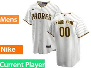 Mens Womens Youth San Diego Padres Current Player Home 2020 Nike White Stripe Cool Base Jersey