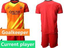 Mens 20-21 Soccer As Roma Club Current Player Red Goalkeeper Short Sleeve Suit Jersey