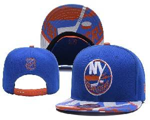 Mens Nhl New York Islanders Falt Snapback Adjustable Hats Blue