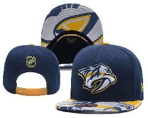 Mens Nhl Nashville Predators Falt Snapback Adjustable Hats Blue