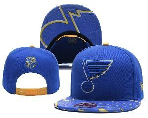 Mens Nhl St.louis Blues Falt Snapback Adjustable Hats Blue