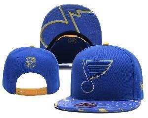 Mens Nhl St.louis Blues Falt Snapback Adjustable Hats Blue