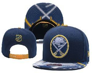 Mens Nhl Buffalo Sabres Falt Snapback Adjustable Hats Blue