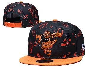 Mens Mlb Baltimore Orioles Falt Snapback Adjustable Hats Black