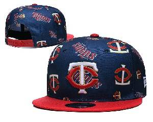 Mens Mlb Minnesota Twins Falt Snapback Adjustable Hats Blue