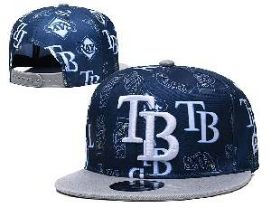 Mens Mlb Tampa Bay Rays Falt Snapback Adjustable Hats Blue