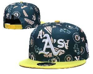 Mens Mlb Oakland Athletics Falt Snapback Adjustable Hats Green