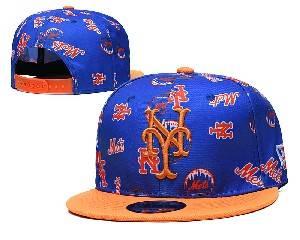 Mens Mlb New York Mets Falt Snapback Adjustable Hats Blue