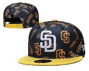 Mens Mlb San Diego Padres Falt Snapback Adjustable Hats Black