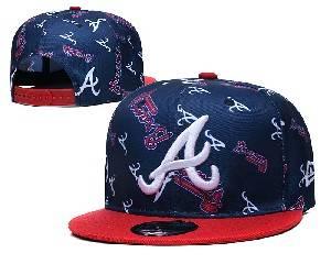 Mens Mlb Atlanta Braves Falt Snapback Adjustable Hats Blue