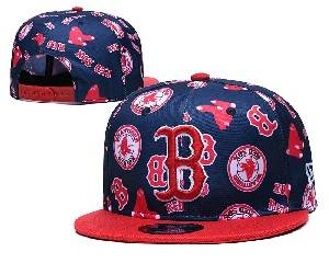 Mens Mlb Boston Red Sox Falt Snapback Adjustable Hats Blue