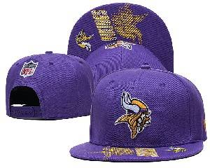 Mens Nfl Minnesota Vikings Falt Snapback Adjustable Hats Purple 9.3