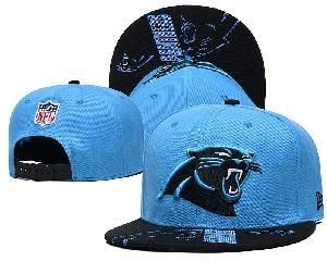 Mens Nfl Carolina Panthers Falt Snapback Adjustable Hats Blue 9.3