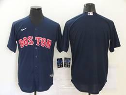 Mens Mlb Boston Red Sox Blank Blue Cool Base Nike Jersey