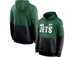 Mens Nfl New York Jets Green And Black Pocket Hoodie Nike Jersey