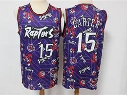 Mens Nba Toronto Raptors #15 Vince Carter Purple Hwc Printing Tear Up Pack Mitchell&ness Swingman Jersey