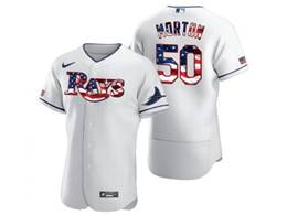 Mens Mlb Tampa Bay Rays #50 Charlie Morton White Usa Flag Flex Base Nike Jersey