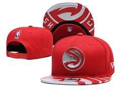 Mens Nba Atlanta Hawks Red Snapback Adjustable Flat Hats