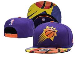 Mens Nba Phoenix Suns Purple Snapback Adjustable Flat Hats
