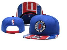 Mens Nba Los Angeles Clippers Blue Snapback Adjustable Flat Hats