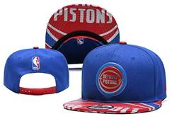Mens Nba Detroit Pistons Blue Snapback Adjustable Flat Hats
