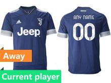 Mens 20-21 Soccer Juventus Club Current Player Blue Away Thailand Short Sleeve Jersey