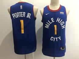 Mens Nba Denver Nuggets #1 Michael Porter Jr. Blue Swingman Nike Jersey