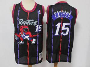 Mens Nba Toronto Raptors #15 Vince Carter Black Mitchell&ness Hardwood Classics Reload Swingman Mesh Jersey