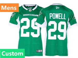 Mens Ncaa Nfl Saskatchewan Roughriders Custom Made Green New Era Home Jersey