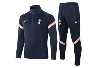 Mens Kids 20-21 Soccer Tottenham Hotspur Club Blue Long Sleeve Jersey And Blue Pants Training Suit