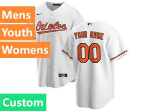 Mens Womens Youth Mlb Baltimore Orioles Custom Made 2020 Nike White Cool Base Jersey