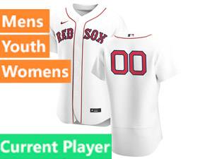 Mens Nike Boston Red Sox White 2020 Home Flex Base Current Player Jersey