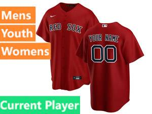 Mens Womens Youth Nike Boston Red Sox Red Cool Base Current Player Alternate 2020 Jersey