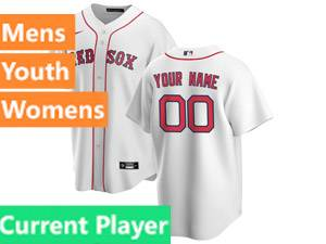 Mens Womens Youth Nike Boston Red Sox White Cool Base Current Player Home 2020 Jersey