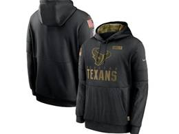 Mens Women Youth Nfl Houston Texans Black 2020 Salute Pocket Pullover Hoodie Nike Jersey