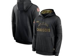 Mens Women Youth Nfl Los Angeles Chargers Black 2020 Salute Pocket Pullover Hoodie Nike Jersey