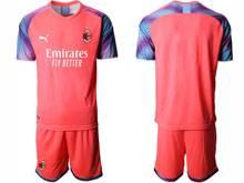 Mens 20-21 Soccer Ac Milan Club ( Custom Made ) Red Goalkeeper Short Sleeve Suit Jersey
