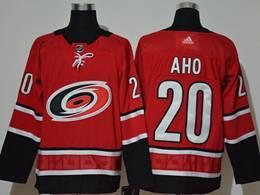 Mens Nhl Carolina Hurricanes #20 Sebastian Aho Red Adidas Player Jersey